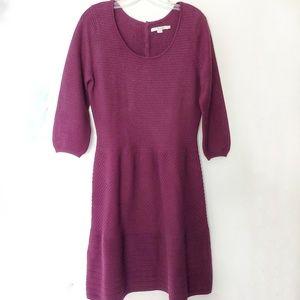 Boden Hannah Sweater Dress Plum